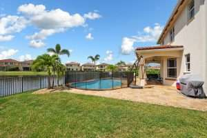 Heated Pool with Swim Deck & Umbrella Stand