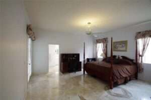 Marble floor master bedroom