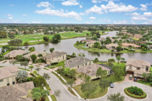 Large Water and Golf Course View