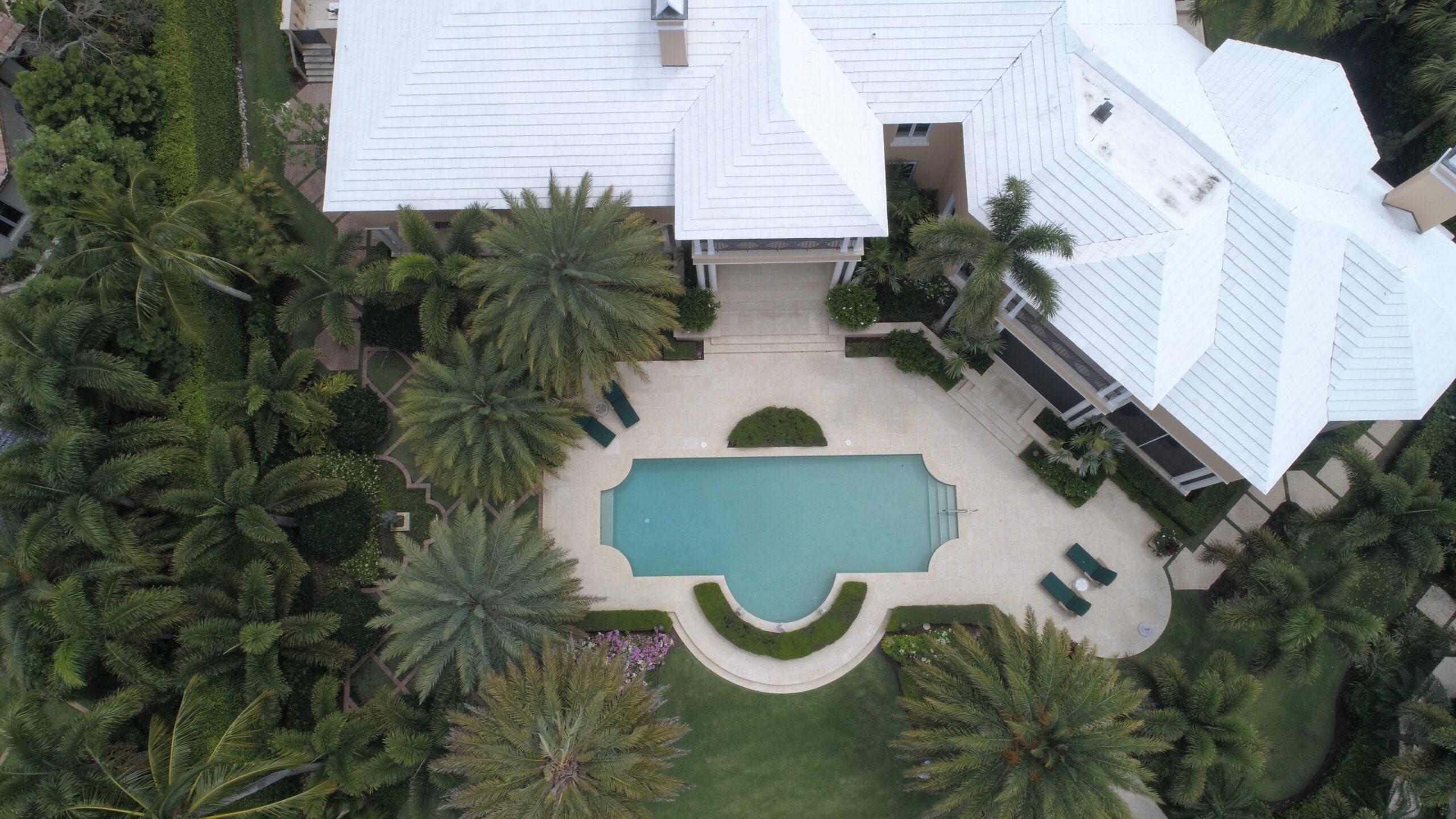 Backyard Pool in Home