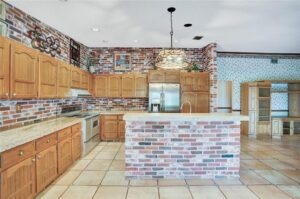Kitchen with Great Wood and Brick Features