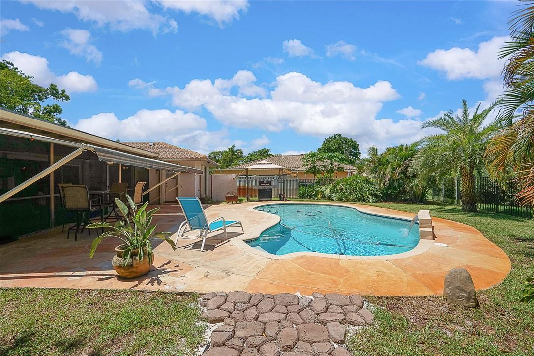 Open Pool and Sunsetter Cover