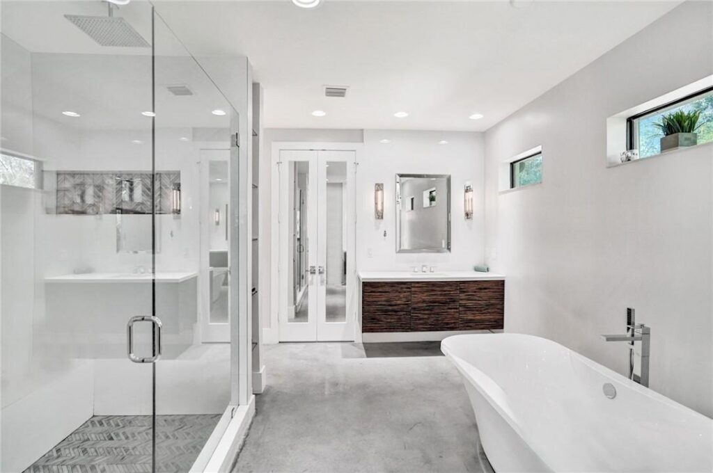 Large Master Bathroom with Shower