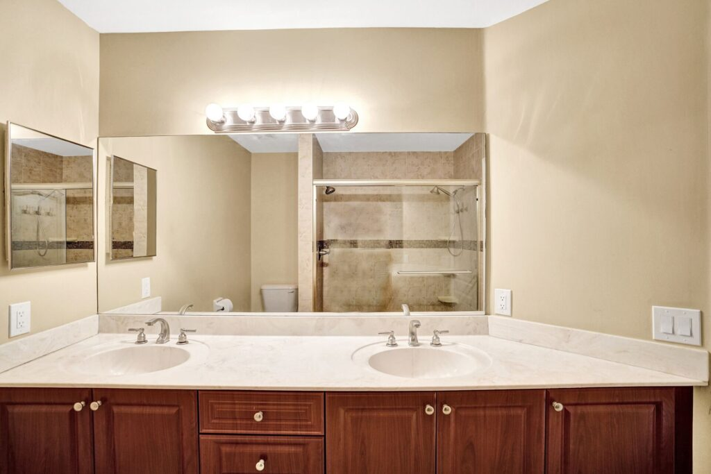 Updated Bathroom with Dual Sinks